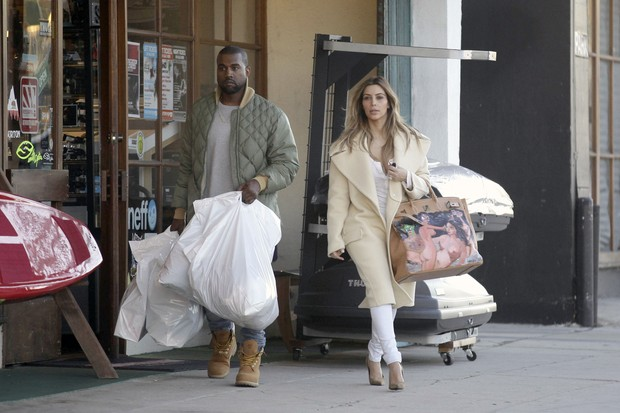 Kanye West e Kim Kardashian (Foto: AKM-GSI )