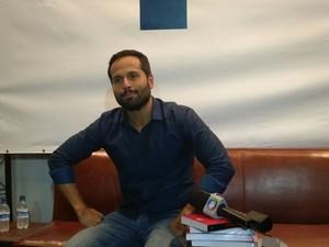 Marcelo Calero comentou com jornalistas sobre sua saída do Minc (Foto: Nicolás Satriano/ G1)