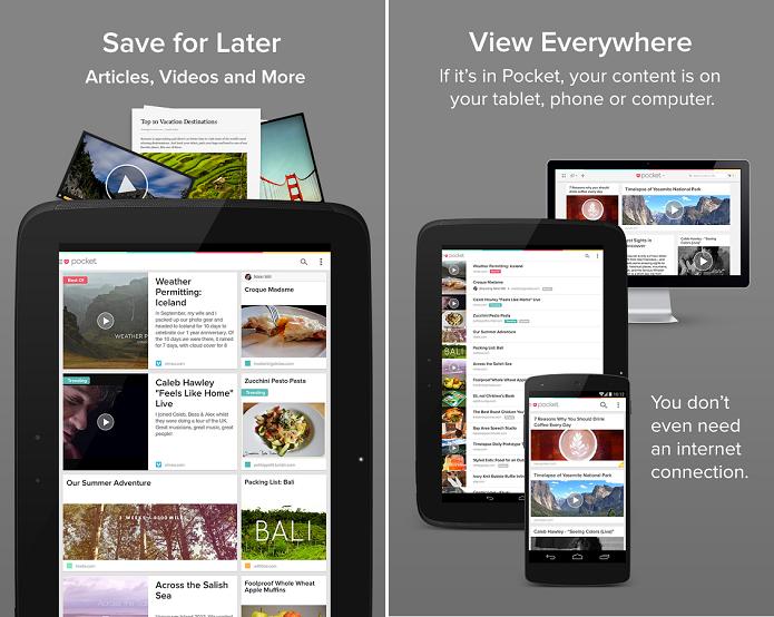 Pocket é um app  multiplataforma que sincroniza PC, tablet ou smartphone (Foto: Divulgação)