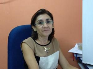 Titular da Delegacia de Crimes Contra a Mulher ( DCCM), Vinali Feitosa  (Foto: Abinoan Santiago/G1)