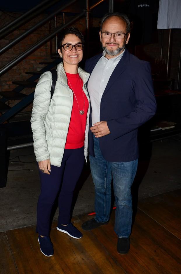 O casal Sandra Annenberg e Ernesto Paglia (Foto: Eduardo Martins/AgNews)