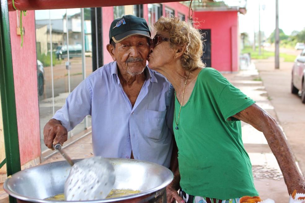 Rita diz que está casada com Francisco Manduca há 60 anos (Foto: Júnior Freitas/G1)