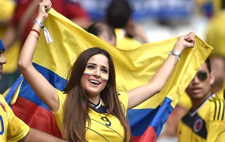gatas torcida Colômbia (Foto: AFP)