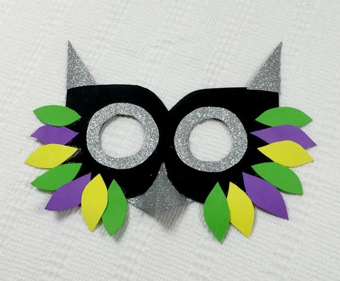 Máscara de coruja (Foto: Renata Viot/Gshow)