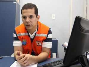 Secretário municipal de Cidadania com Segurança Breno Galdino (Foto: Flora Dolores / O Estado)