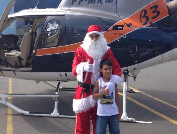 Chicão Corinthians Papai Noel (Foto: Reprodução/Twitter)