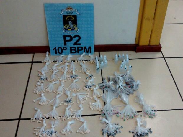 Material apreendido durante ação no Morro do Gama (Foto: Divulgação/Polícia Militar)
