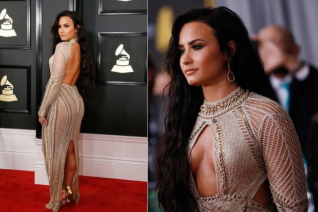 Demi Lovato no Grammy (Foto: Reuters agência)