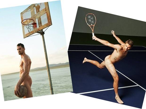 Kevin Love e Stan Wawrinka  (Foto: ESPN Body Issue)