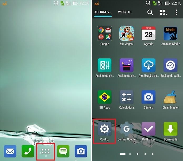 Acesse as configurações do Zenfone 2 (Foto: Felipe Alencar/TechTudo)