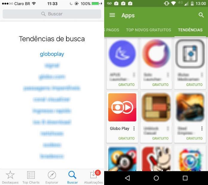 Globo Play é o aplicativo mais baixado na App Store apenas um dia depois do lançamento (Foto: Reprodução/App Store)