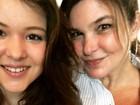 Cristiana Oliveira posa com a filha caçula e paparica: 'Meu bebê cresceu'