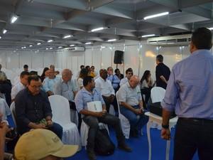 Previsão foi divulgada durante palestra de exploração de petróleo (Foto: Jéssica Alves/G1)