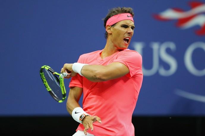 Rafael Nadal vence na estreia do US Open (Foto: Richard HEATHCOTE / GETTY IMAGES NORTH AMERICA / AFP)