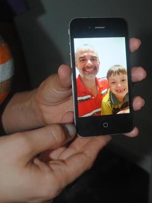 Foto foi enviada à mãe de Pedro Paulo por seu pai, Jurandir Mellado (Foto: Arquivo Pessoal)