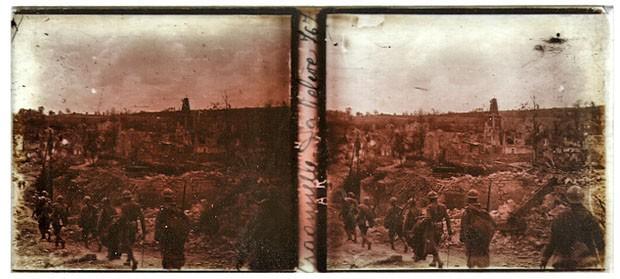Fotografia da Primeira Guerra encontrada pelo fotógrafo Chris A. Hughes (Foto: Chris A. Hughes)