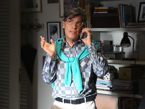 'É a xereta de Xerém quem vai descobrir pra mim', diz Téo sobre mistérios de Silviano (Foto: Raphael Dias/ Gshow)