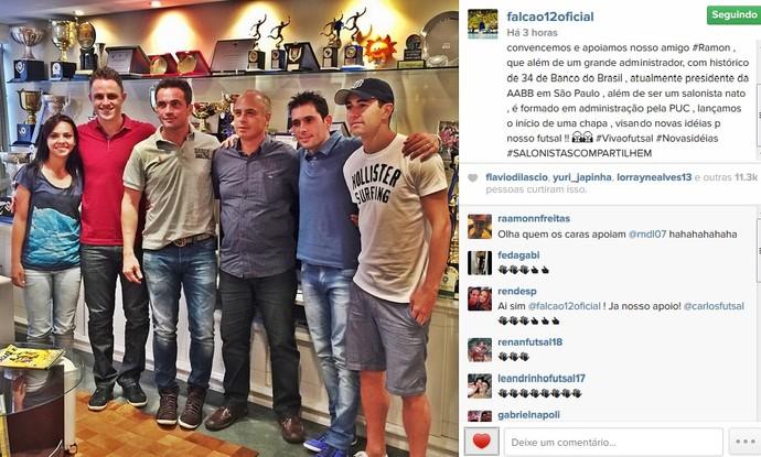 Falcão, Neto, Rodrigo, Tiago, Vanessa e Ramon eleições CBFS (Foto: Reprodução Instagram)