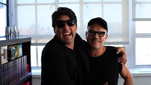 Bruno de Luca conheceu o diretor de arte Giovanni Bianco na viagem (Foto: Multishow)