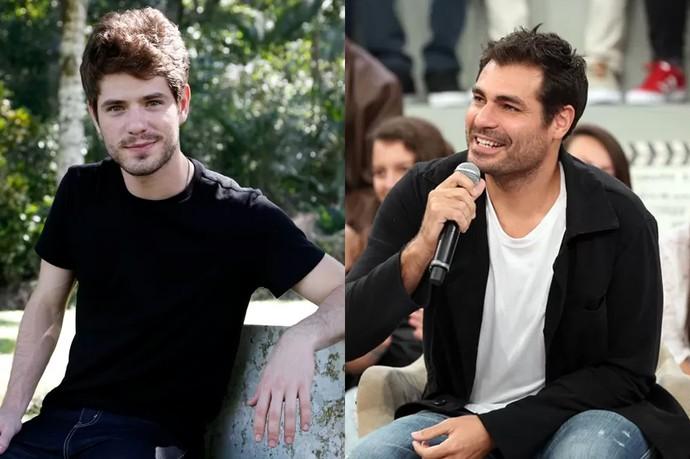 Maurício Destri e Thiago Lacerda dividem o mesmo personagem: Ciro (Foto: Gshow)