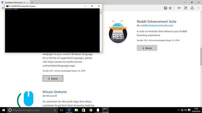 Windows instalará extensão no Microsoft Edge (Foto: Reprodução/Elson de Souza)