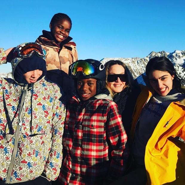 Madonna, Rocco, Lourdes Maria, David Banda e Mercy James (Foto: Instagram/Reprodução)