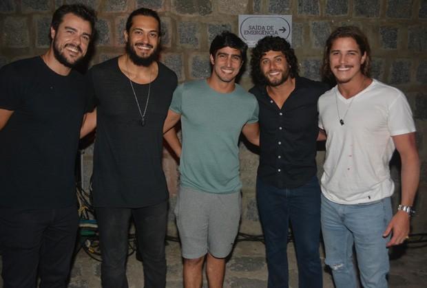 Joaquim Lopez, Raphael Vianna, Renato Góes, Jesus Luz e Rômulo Neto (Foto: Felipe Souto Maior/AgNews)