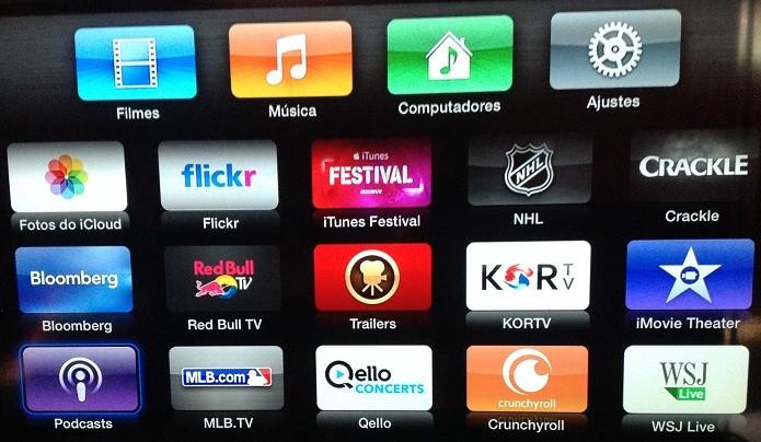 Apple TV tem vários canais o usuário assistir (Foto: Reprodução/Edivaldo Brito)