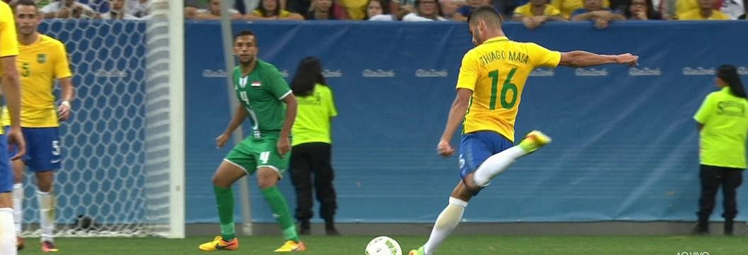 Brasil x Iraque - Jogos Olímpicos - Futebol masculino 2016-2016 ... ba9a6316c3253