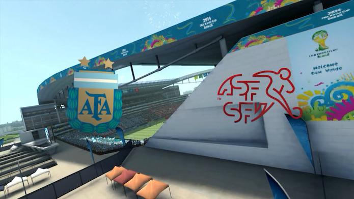 Simulação Copa do Mundo Fifa 2014: Argentina x Suíça (Foto: Reprodução/Murilo Molina)
