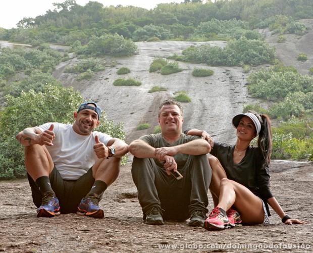 A bela paisagem da Urca foi pano de fundo para o treino (Foto: Domingão do Faustão / TV Globo)