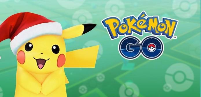 Pokémon GO com Pikachu natalino (Foto: Divulgação/Niantic)