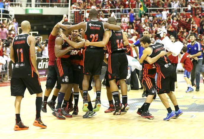 Flamengo campeão NBB comemoração final (Foto: André Durão / Globoesporte.com)