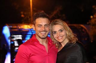 Luigi Baricelli e a mulher, Andréa, em festa na Zona Sul do Rio (Foto: Claudio Andrade/ Foto Rio News)