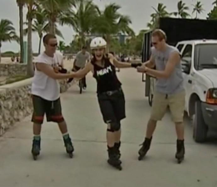 Chris Couto relembra matéria feita em Miami (Foto: Vídeo Show / TV Globo)