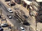 Ônibus da EMTU é incendiado em protesto na Zona Sul de SP