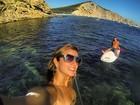 Ronaldo e Paula Morais praticam stand up paddle juntos