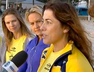 Cláudia Coutinho superou receios para se inscrever na prova (Foto: Reprodução SporTV)
