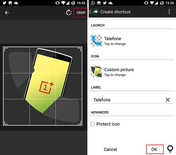 Awesome Icons cortará o ícone antes de adicioná-lo à tela inicial do Android (Foto: Reprodução/Elson de Souza)