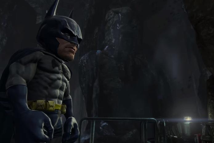 Modo cômico deixa Batman com proporções exageradas (Foto: Reprodução)