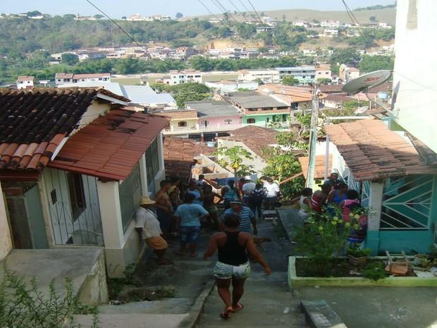 Pai mata filho após cobrança de dinheiro em Mutuípe, região centro-sul da Bahia (Foto:  Leandro Almeida / Mídia Bahia)