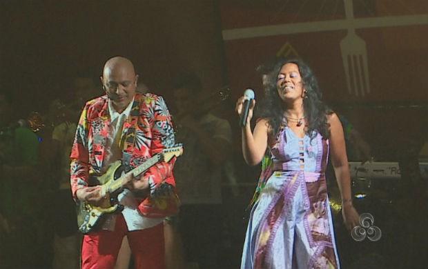 Apresentação da cantora guianense (Foto: Reprodução/TV Amapá)