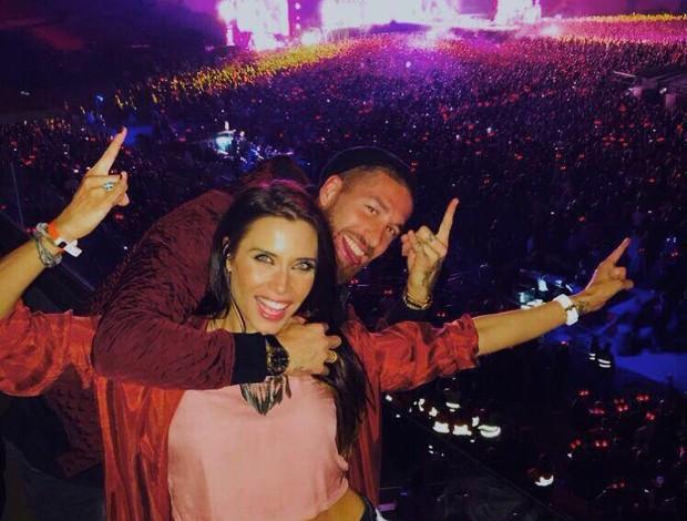 BLOG: Sergio Ramos e a mulher assistem ao show da banda AC/DC