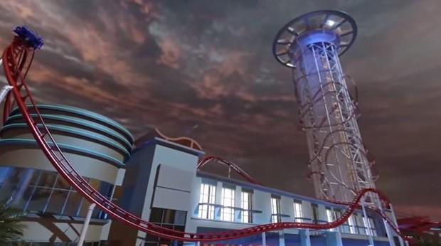 Visão mais ampla da Skyscraper  (Foto: Reprodução Youtube)