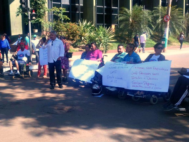 Manifesto cadeirantes (Foto: José Aurismar/ Arquvio Pessoal)