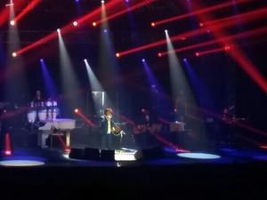 Depois da terceira pausa, o Rei seguiu com o show até o fim em Porto Alegre (Foto: Gabrielle Ruat/Arquivo Pessoal)
