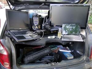 Produtos foram roubados em assalto na Cidade Universitária em Campinas (Foto: Divulgação / Guarda Municipal)