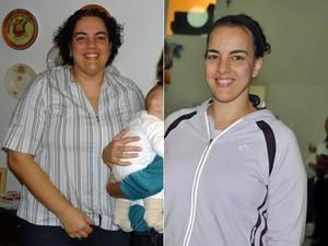Após 20 anos de sedentarismo, Roberta começou a se exercitar e conseguiu perder peso e ganhar saúde (Foto: Arquivo pessoal)