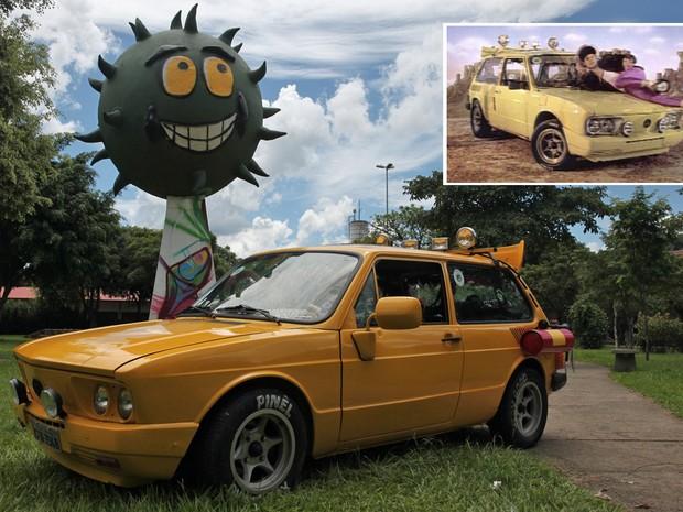 Brasília amarela dos Mamonas Assassinas foi resgatada e peças usadas para criar novo carro (Foto: Fábio Tito/G1)
