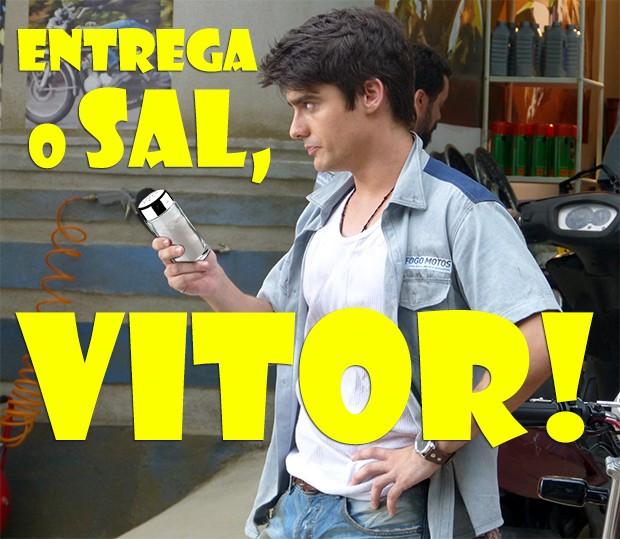 Entrega o Sal, Vitor! (Foto: Malhação / TV Globo)